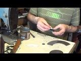 Необычная заплатка. Видео уроки по ремонту обуви, и изделий из кожи.