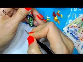 Вебинар Жостово часть 7, Подготовка к уроку в Мастергруппе, обучение жостовской росписи ногтей