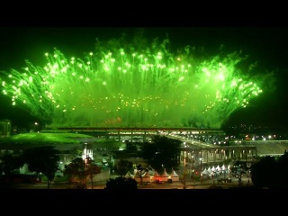Адкрыццё Алімпіяды-2016/ Открытие Олимпиады-2016/ The opening of the Olympic Games. Fireworks <#Белсат>