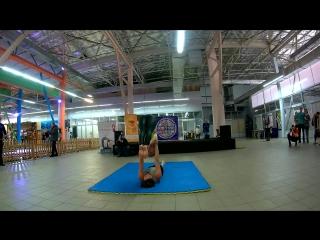 Презентации студии на ЗдравоLandе, 5 марта г. Сумы (акро-йога)