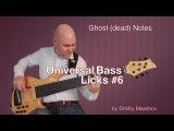 Universal Bass Licks #6 Ghost Notes // уроки игры на бас гитаре