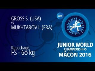 Repechage FS - 60 kg: I. MUKHTAROV (FRA) df. S. GROSS (USA), 16-11