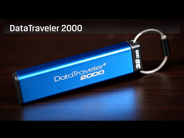 Secure USB Drive with Keypad - Kingston DataTraveler 2000