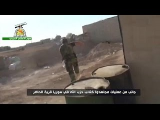 Inside a Kata'ib Hezbollah position during the ongoing rebel counteroffensive south of Aleppo