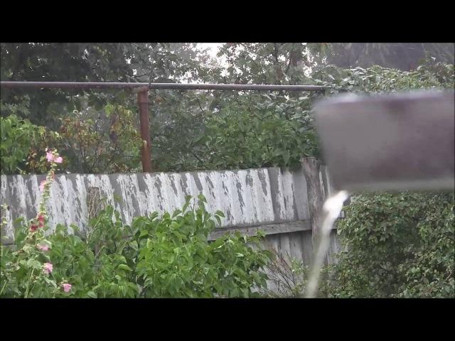 Ливень с грозой в Самойловке Саратовской области (25.07.16)