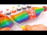 How To Make Rainbow Coca Cola Drinking Water Pudding Jelly Learn the Recipe DIY 무지개 콜라 푸딩 젤리 만들기