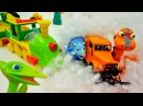 New video. Dinosaur Train! Snow on the rail! Поезд динозавров.