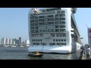 "P&O cruise ship ""Azura"", first call at the Port of Rotterdam on April 23, 2011"