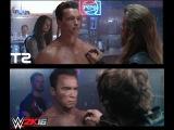 Arnold Schwarzenegger - Terminator 2 vs. WWE 2K16 (comparison)