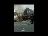 Сгорел трактор на улице Пермитина