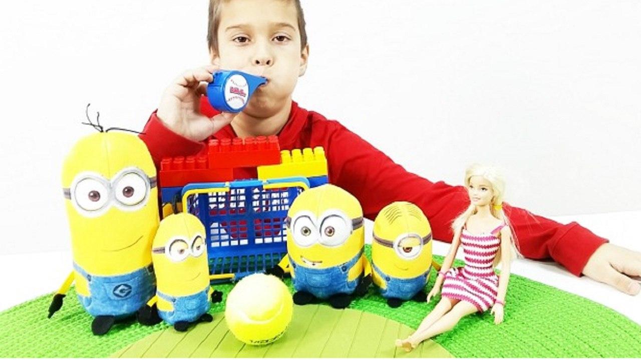 Миньоны и Робот: играем вместе! ИгроБой Костя. Видео для детей