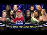 WWE tag team 10 man smakdown