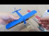 Делаем с ребенком объемный самолетик - биплан из картона и спичечного коробка