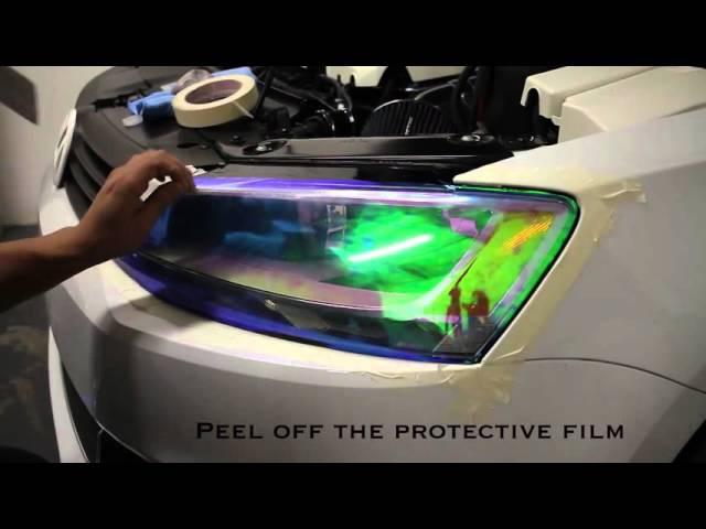 How To Install Neo Chrome Headlight Tint Film DIY