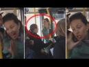 РУССКИЕ В ЕВРОПЕ. Русская быдло-баба в Рижском автобусе скандалит и напоследок плюет в лицо девушке