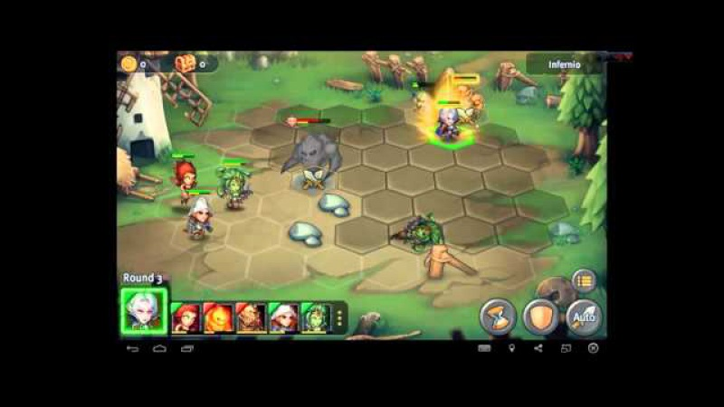 Heroes Tactics Heroic Mode Level 1-6 ★★★ (F2P Heroes No Pegasus)