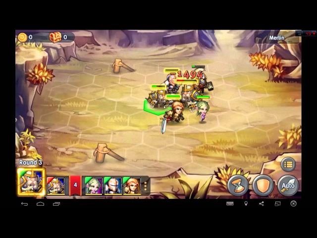 Heroes Tactics Heroic Mode Level 3-1 ★★★ (F2P Heroes No Pegasus)