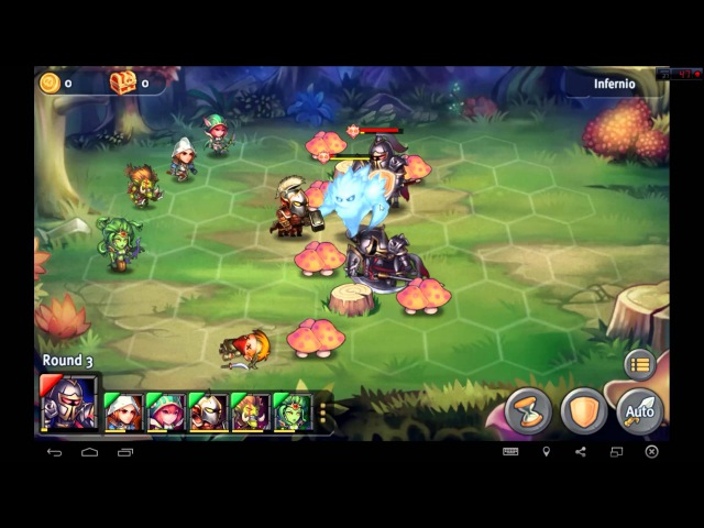 Heroes Tactics Heroic Mode Level 2-2 ★★★ (F2P Heroes No Pegasus)
