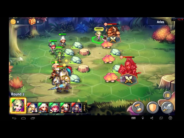 Heroes Tactics Heroic Mode Level 2-3 ★★★ (F2P Heroes No Pegasus)