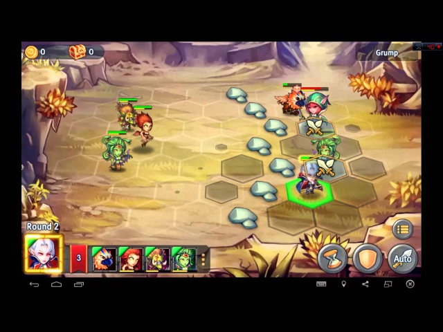 Heroes Tactics Heroic Mode Level 3-2 ★★★ (F2P Heroes No Pegasus)