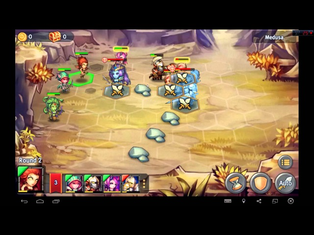 Heroes Tactics Heroic Mode Level 3-4 ★★★ (F2P Heroes No Pegasus)