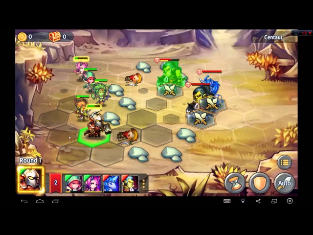 Heroes Tactics Heroic Mode Level 3-3 ★★★ (F2P Heroes No Pegasus)