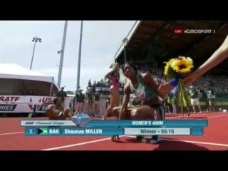 Women's 400m Final IAAF Diamond League Eugene 2016