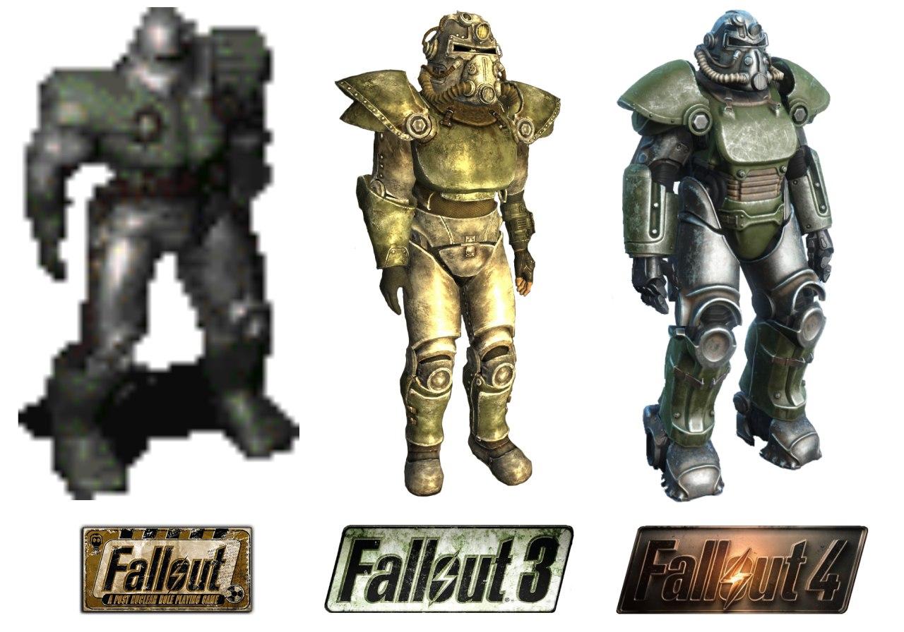 Эволюция брони в Fallout