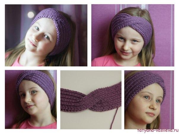 Как связать повязки на голову для девочек своими руками