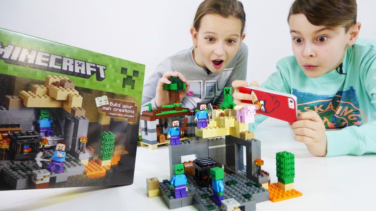Майнкрафт! Мультик для детей от ИгроБоя Дани и Оли