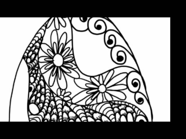 Doodle Egg Zentangle Style Doodle Patterns in an Egg Zendoodle Art ala Milliande