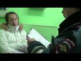 Леночка беспредельщица бьёт сотрудников ДПС - Ижевск