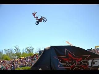 Motocross Freestyle Show от команды FMX13 на Бизон-Трек-Шоу-2015. Квадрокоптер DJI Phantom2