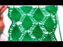 Вязание на спицах. Узор Листочки. Leafy Columns (pattern with a deflated loops)