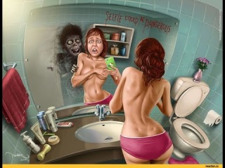 Мульт для Взрослых! Приколы Девушки у Зеркала Cartoon for Adults! Fun Girls in the Mirror!