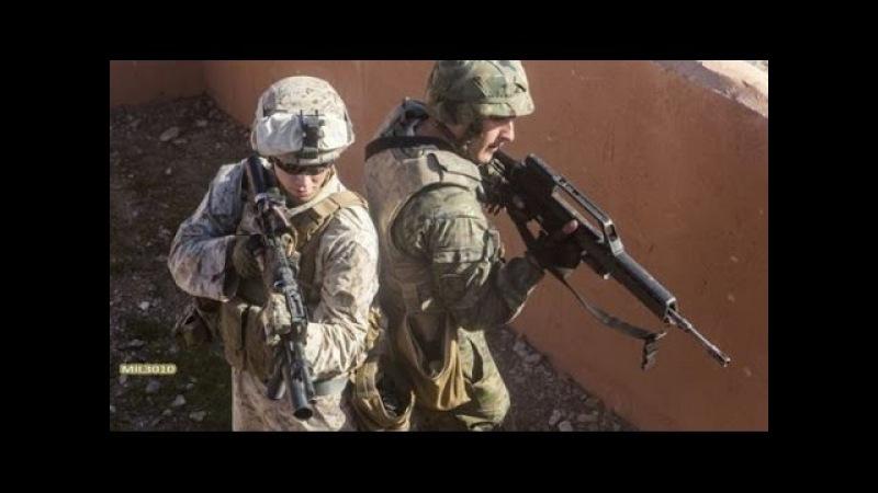 Морская пехота США и солдаты Испанского легиона на учениях
