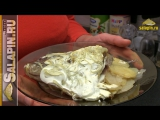 Карп, запеченный в сметане с картофелем и луком