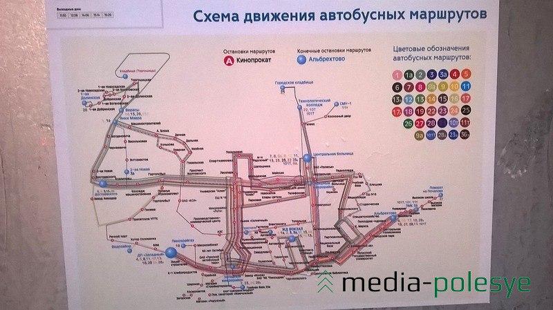 Для удобства пассажиров - схема движения городских автобусов