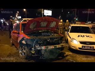 В ДТП на ул. Рязанской в Туле погиб пассажир такси
