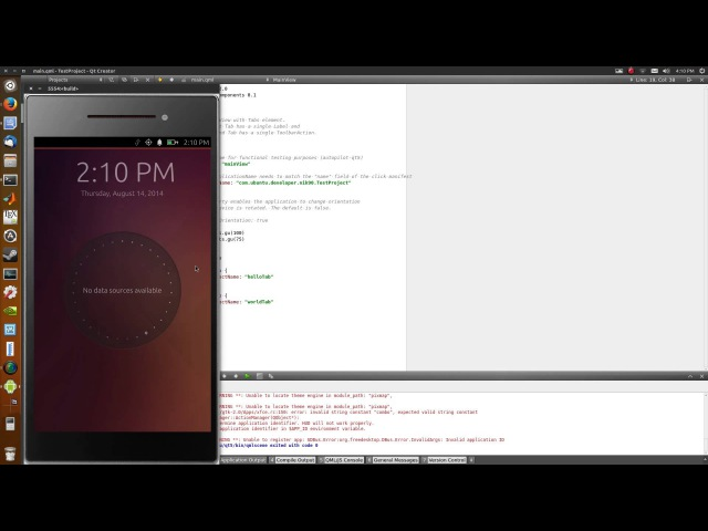 Running UbuntuTouch apps on a device