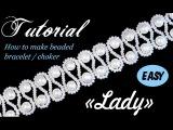Tutorial Beaded choker with pearls (Wedding style)  Чокер из бисера и жемчуга