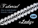 Tutorial Beaded choker with pearls Wedding style / Чокер из бисера и жемчуга Леди свадебный