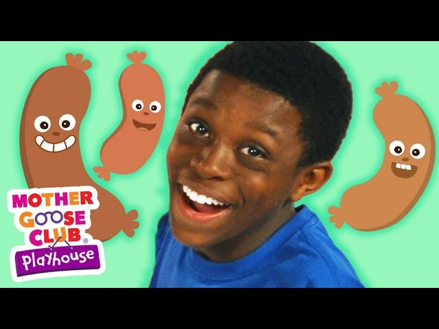 Funny Food Game   Five Fat Sausages   Mother Goose Club Playhouse Kids Video
