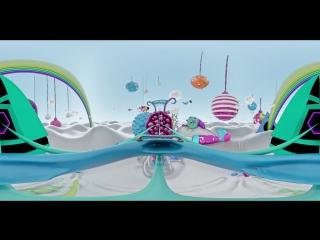 Панорама 360| Американские горки для детей, мультик, панорамное видео в 360 градусов!