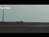 Видео жесткой посадки лайнера «на брюхо» в Астане сняли очевидцы