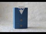 Как упаковать чай в подарок, мастер класс пиджак из бумаги