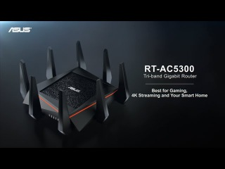 Tri-Band Wireless Gigabit Router - RT-AC5300 | ASUS