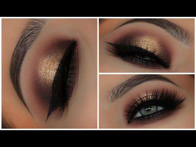 Gold Black Halo Smokey Eyes | Amys Makeup Box
