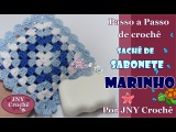 PAP de crochê Sachê de sabonete Marinho por JNY Crochê