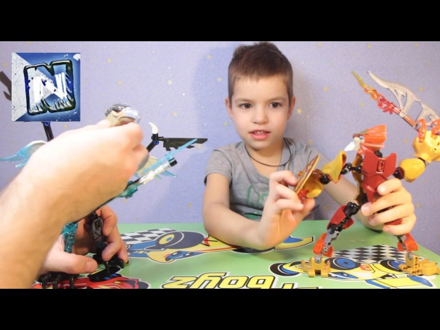 Легенды Чимы Лавал против Варди Cartoon Laval vs Vardi Lego Legends of Chima!